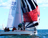 J24 - North Americans 2016 Race 1 - Spin out